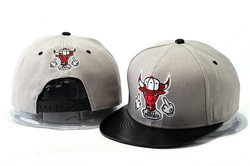 Crazy Bulls Grey Snapback Hat YS 4 0528