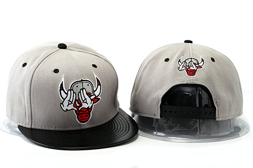 Crazy Bulls Grey Snapback Hat YS 0528