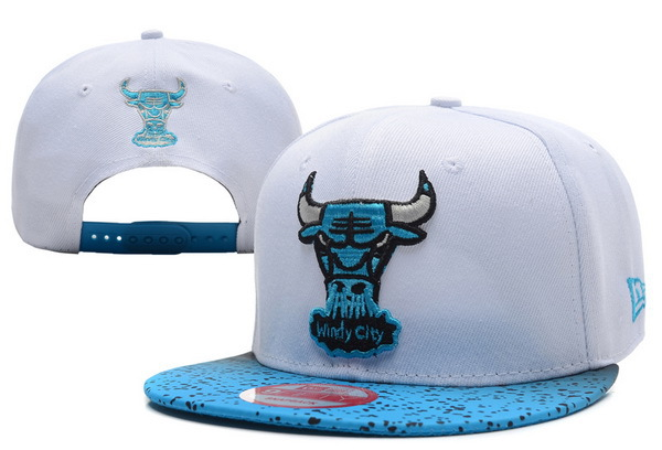Chicago Bulls White Snapback Hat XDF 0701