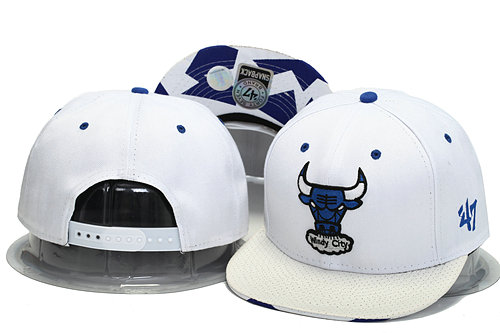 Chicago Bulls White Snapback Hat YS 1 0701