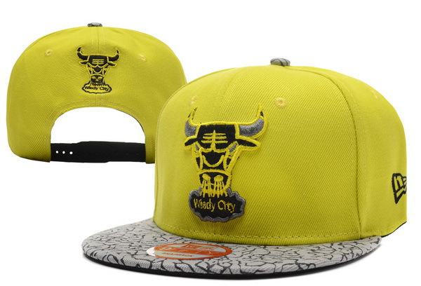 Chicago Bulls Yellow Snapback Hat XDF 0701