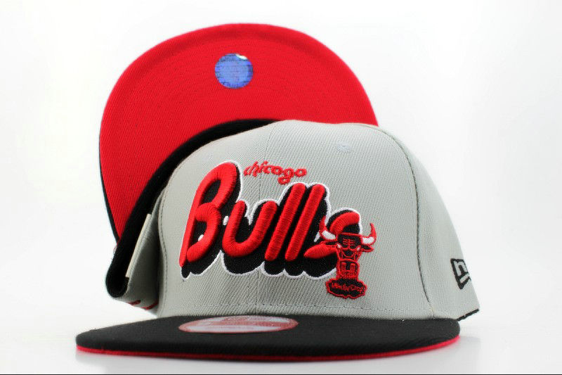 Chicago Bulls Grey Snapback Hat QH 1