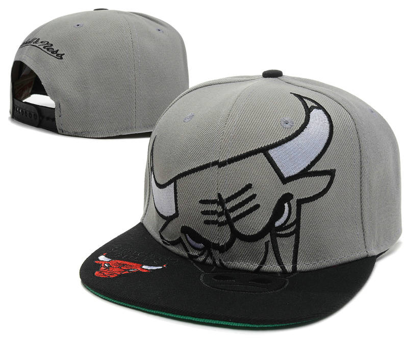 Chicago Bulls Grey Snapback Hat SD