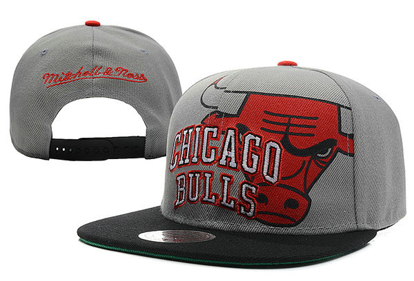 Chicago Bulls Grey Snapback Hat XDF 4