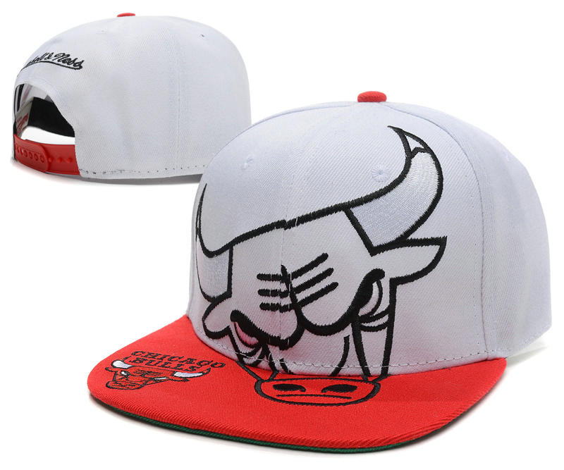 Chicago Bulls White Snapback Hat SD 1