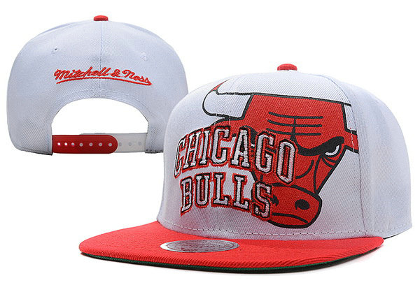 Chicago Bulls White Snapback Hat XDF 2