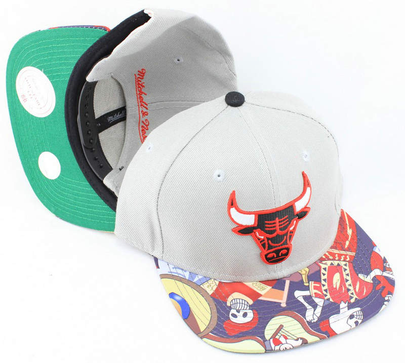 Chicago Bulls Grey Snapback Hat JT 0613