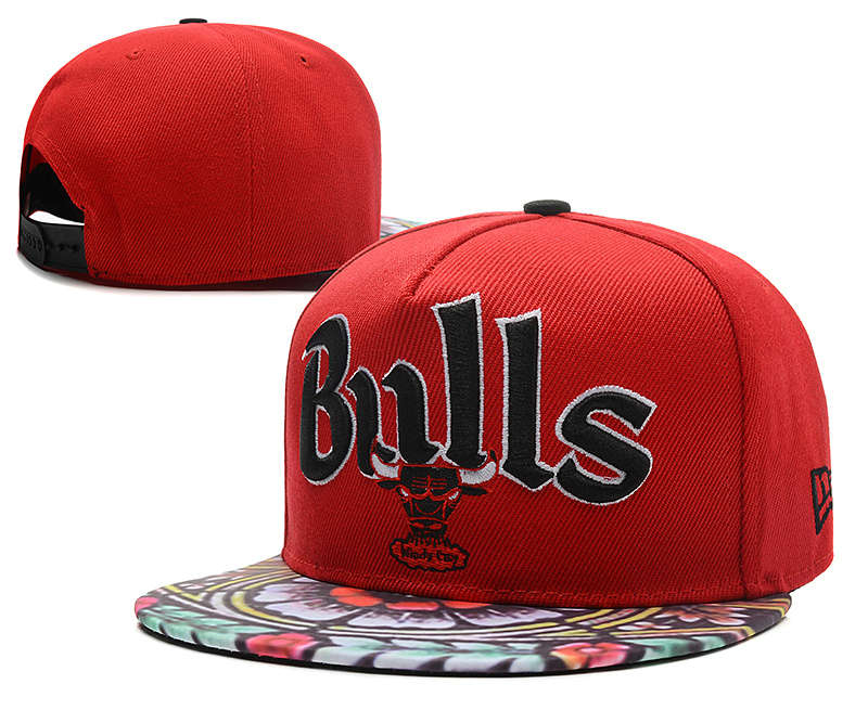 Chicago Bulls Red Snapback Hat DF 0613