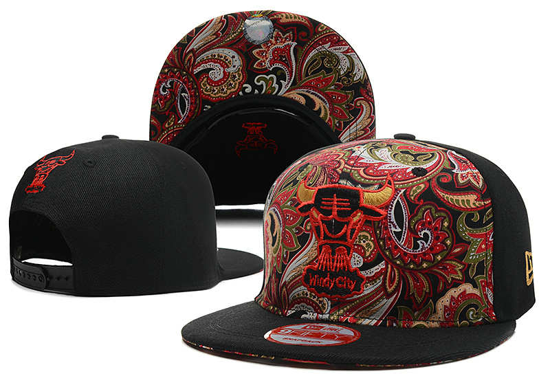 Chicago Bulls Snapback Hat DF 3 0613