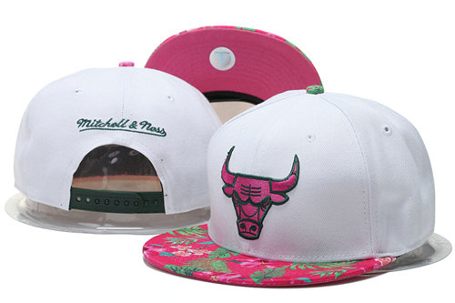 Chicago Bulls Snapback White Hat 1 GS 0620
