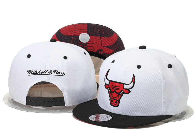 Chicago Bulls Snapback White Hat GS 0620
