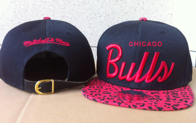 Chicago Bulls Navy Snapback Hat 60D 1 0721