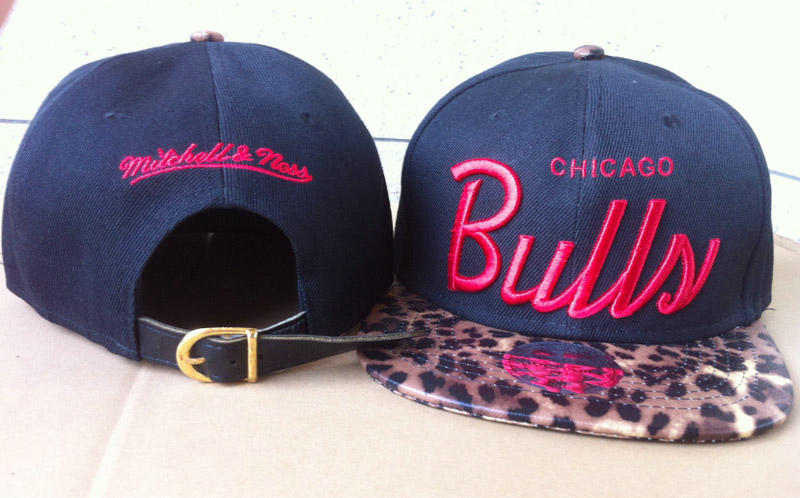 Chicago Bulls Navy Snapback Hat 60D 2 0721