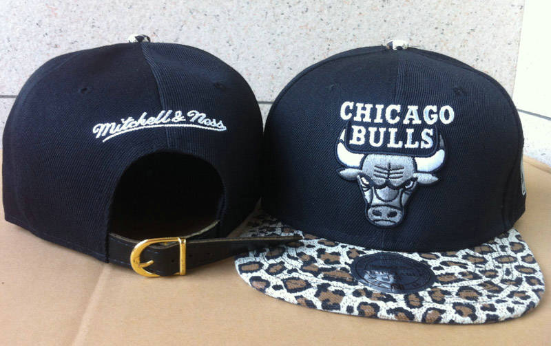 Chicago Bulls Navy Snapback Hat 60D 3 0721