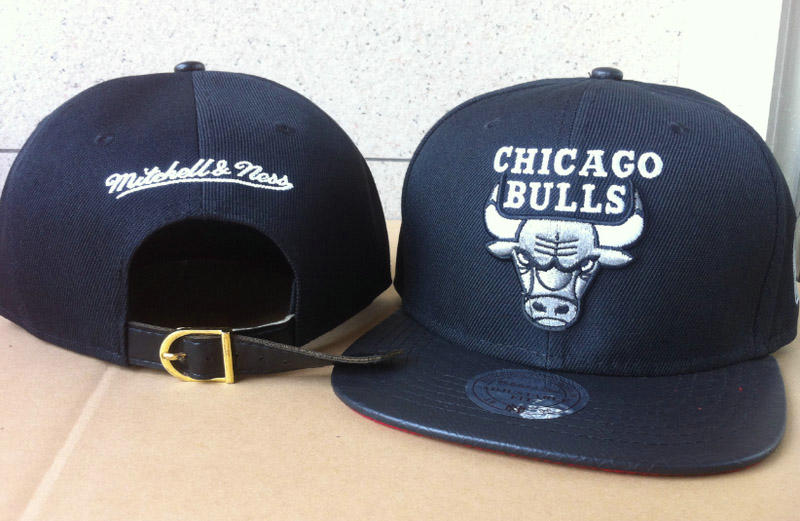 Chicago Bulls Navy Snapback Hat 60D 6 0721