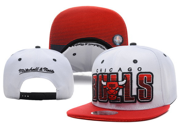 Chicago Bulls White Snapback Hat XDF 0721