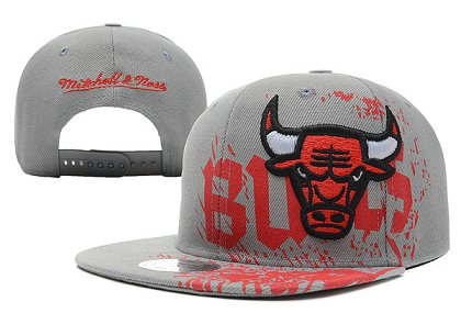 Chicago Bulls NBA Snapback Hat XDF-GREY