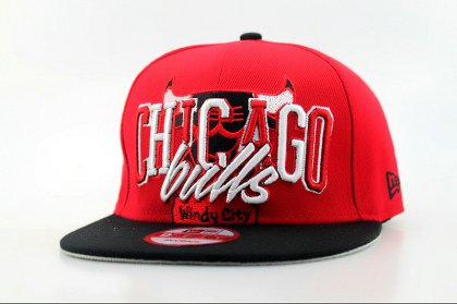 Chicago Bulls Snapback Hat Red QH n