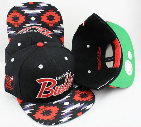 Chicago Bulls Flower Bill Snapback Hat JT12