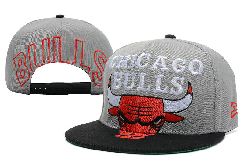 Chicago Bulls Grey Snapback Hat XDF 2