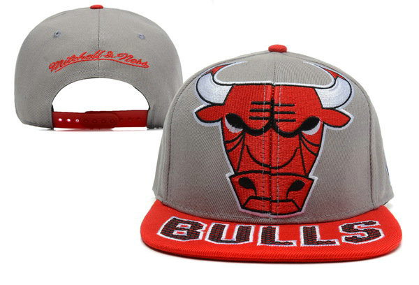 Chicago Bulls Grey Snapback Hat XDF