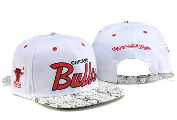 Chicago Bulls White Snapback Hat TY