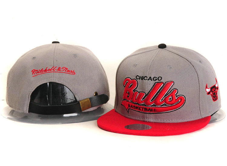Chicago Bulls Grey Snapback Hat YS