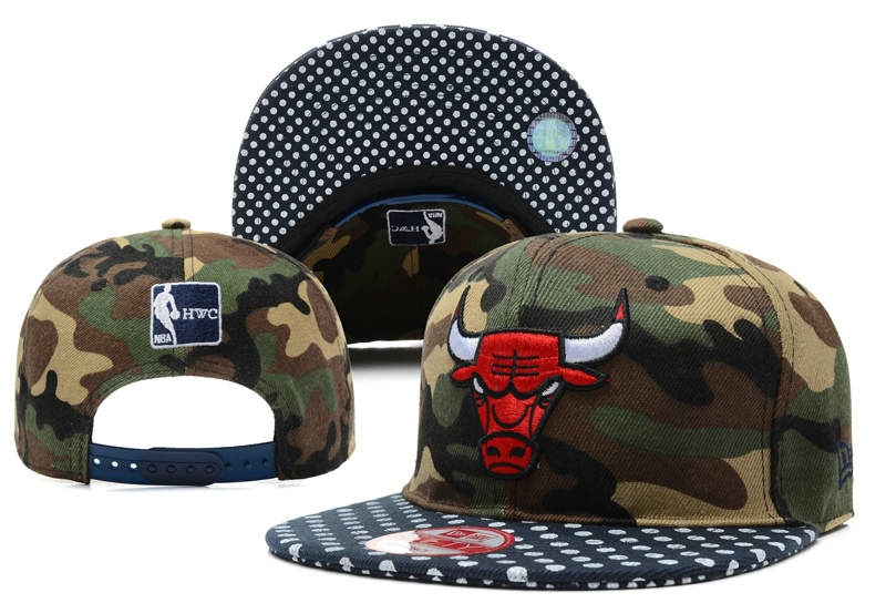 Chicago Bulls Camo Snapback Hat DF 0512
