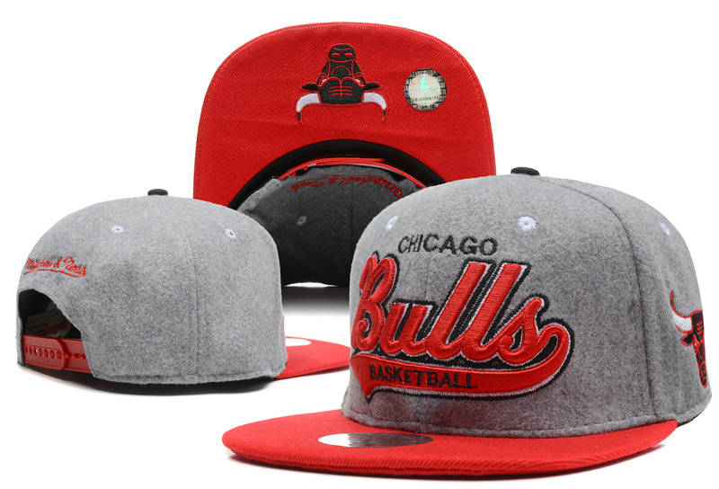 Chicago Bulls Grey Snapback Hat DF 0512
