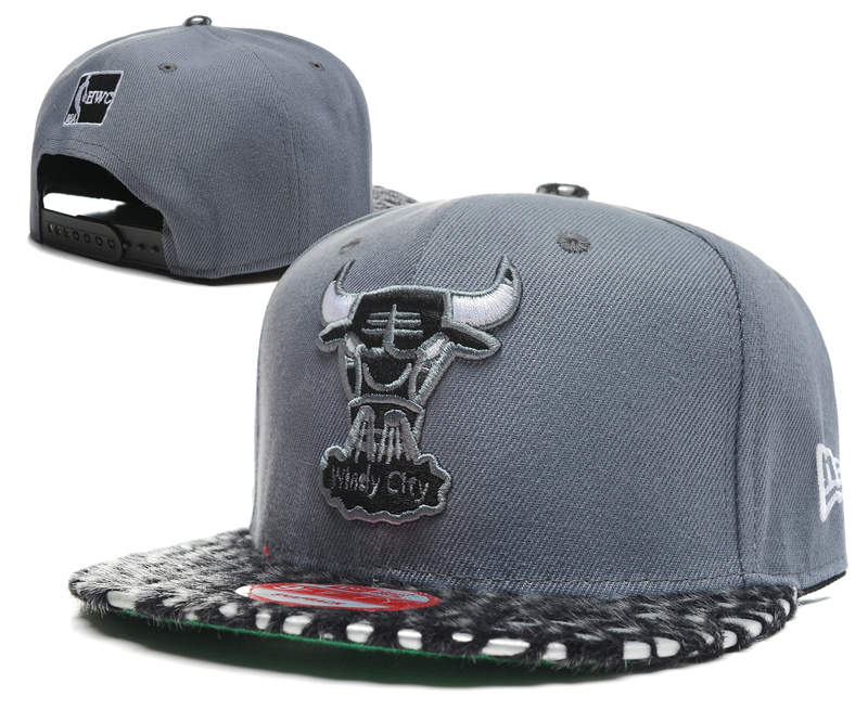 Chicago Bulls Grey Snapback Hat SD 0512
