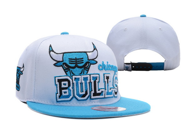 Chicago Bulls White Snapback Hat XDF 0512