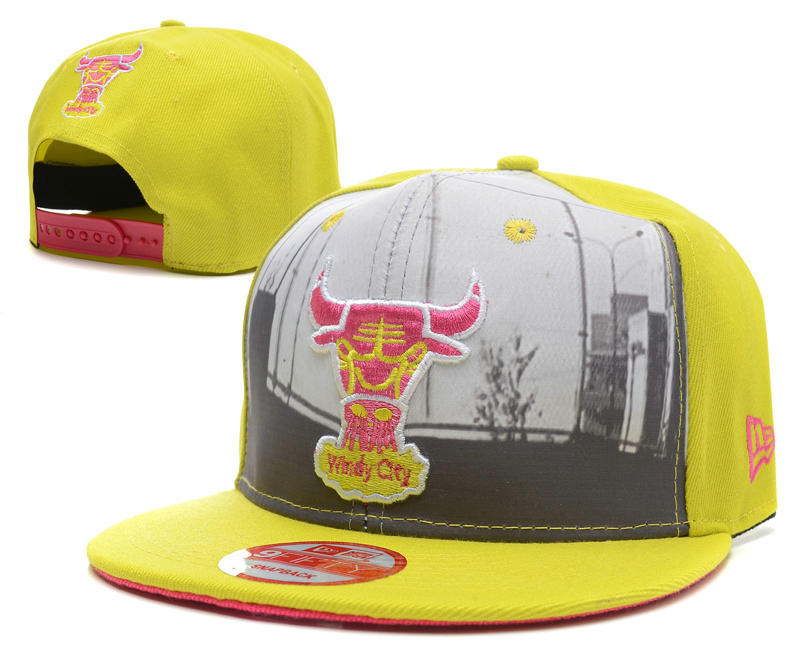 Chicago Bulls Yellow Snapback Hat SD 0512