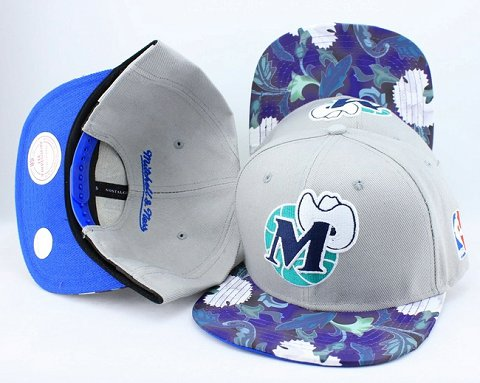 Dallas Mavericks Flower Bill Snapback Hat JT20