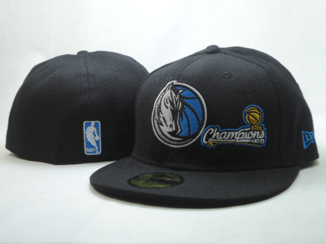 Dallas Mavericks Black 59FIFTY Hat SF