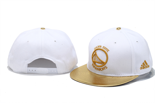 Golden State Warriors White Snapback Hat YS
