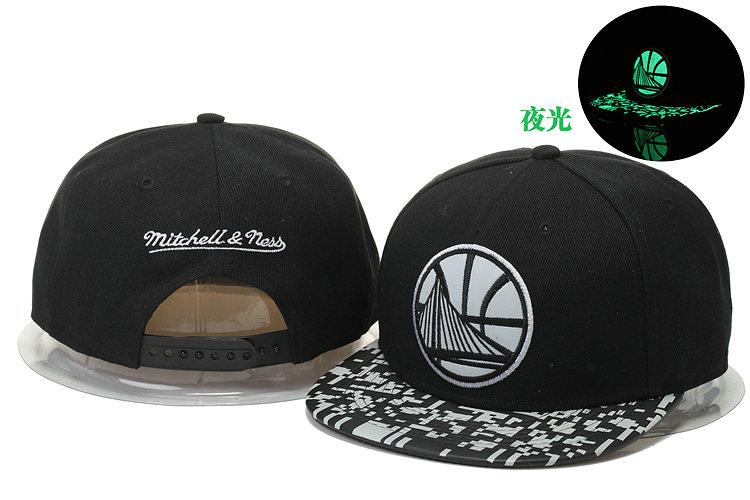 Golden State Warriors Black Snapback Noctilucence Hat GS 0620