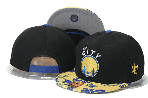 Golden State Warriors Snapback Black Hat GS 0620