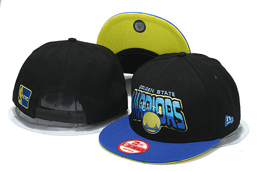 Golden State Warriors Black Snapback Hat YS 0512
