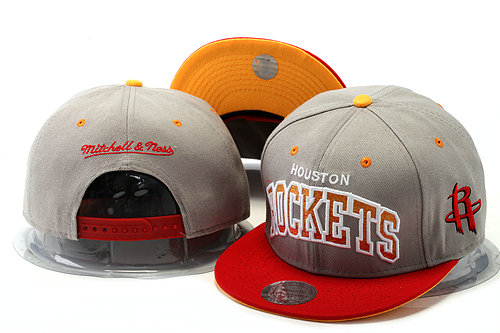 Houston Rockets Grey Snapback Hat YS 0528