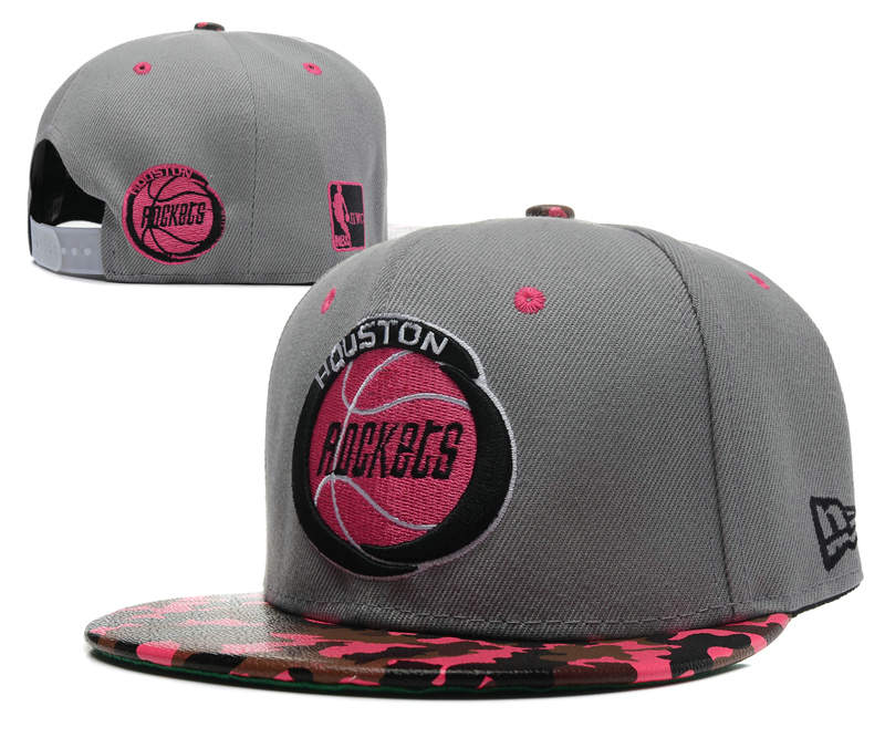Houston Rockets Grey Snapback Hat SD 0512