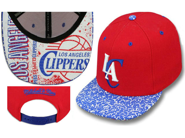 Los Angeles Clippers Red Snapback Hat LS