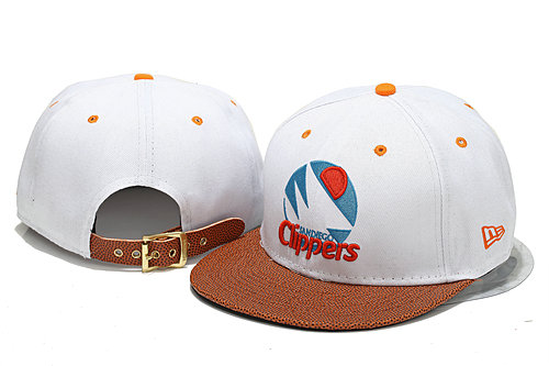 Los Angeles Clippers White Snapback Hat YS