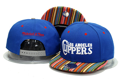 Los Angeles Clippers Blue Snapback Hat YS 0613