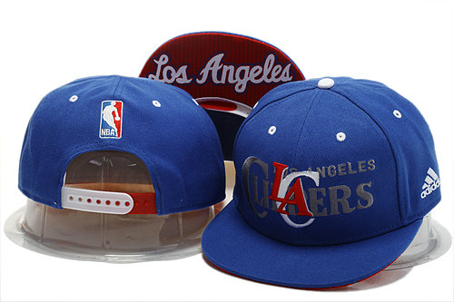 Los Angeles Clippers Blue Snapback Hat YS 0721