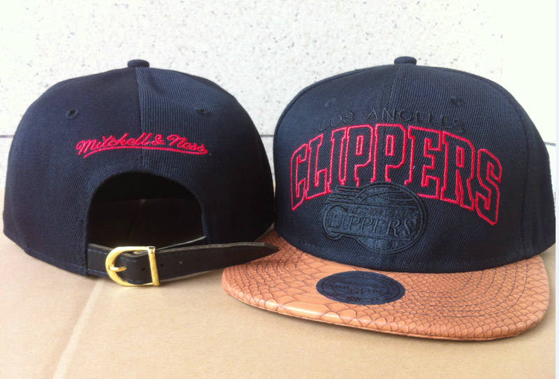Los Angeles Clippers Navy Snapback Hat 60D 0721