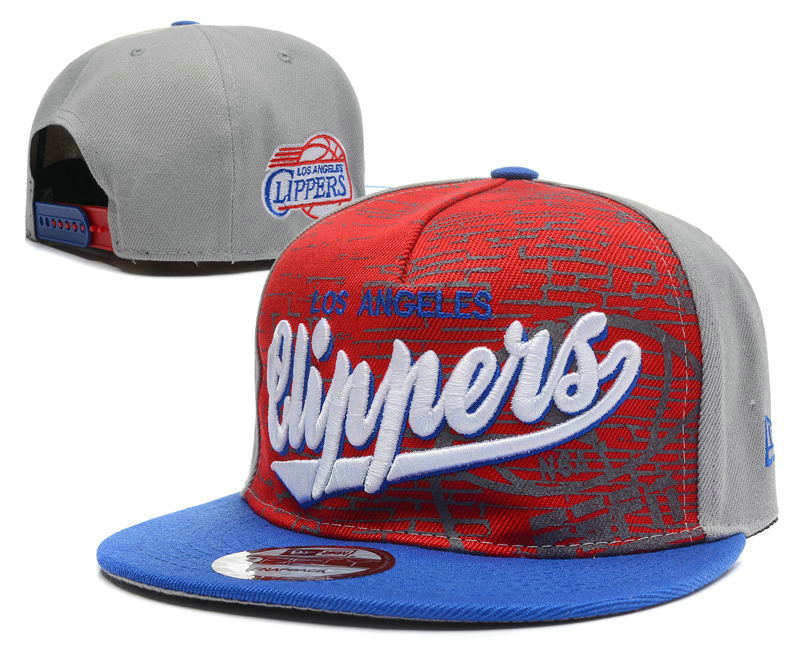 Los Angeles Clippers Grey Snapback Hat DF1 0512