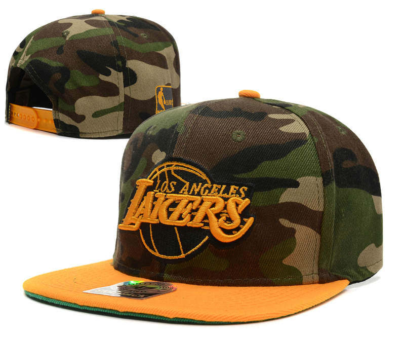 Los Angeles Lakers Camo Snapback Hat DF