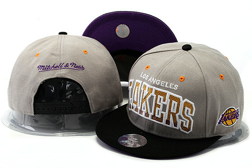 Los Angeles Lakers Grey Snapback Hat YS 0528