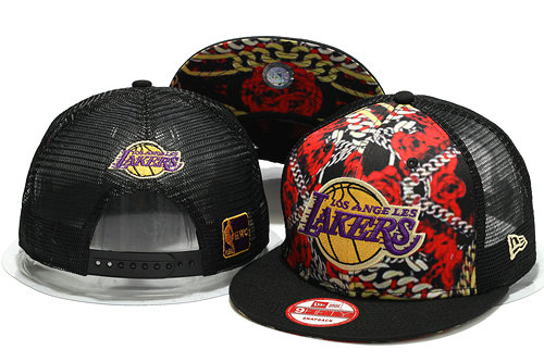 Los Angeles Lakers Mesh Snapback Hat YS 1 0701