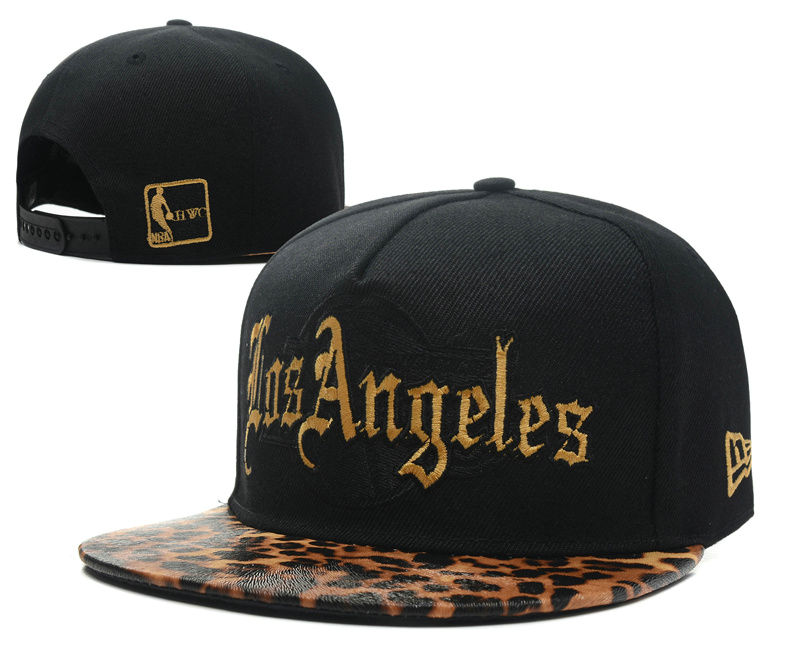 Los Angeles Lakers Black Snapback Hat SD